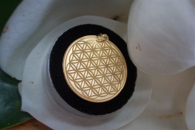 Flower of life jewelry fourth dimensional shift flower of life medallion 3cm aloadofball Choice Image